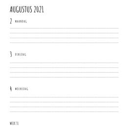 ACTIE GROTER FORMAAT Pluimpjes (school)agenda 2021/2022 | vierkant