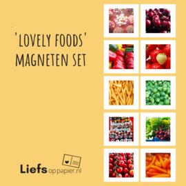 'Lovely Foods' magneten | set van 10