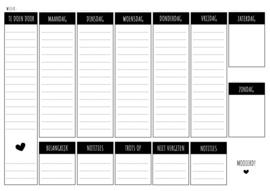 Planner | Family planner | A4 formaat met ophanghaak