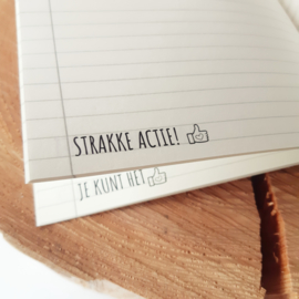 Pluimpjes schrift (A5 formaat, eco papier)