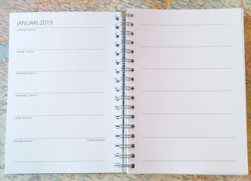Agenda 2019. 1 uniek exemplaar in A6 formaat!