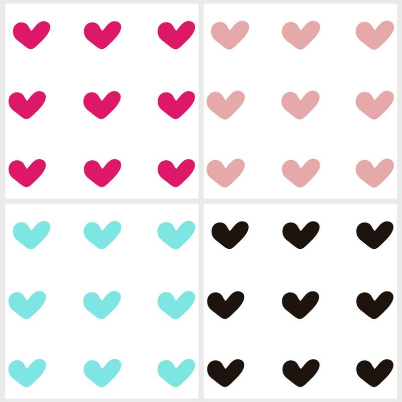 Stickers Hartjes (4 kleuren)