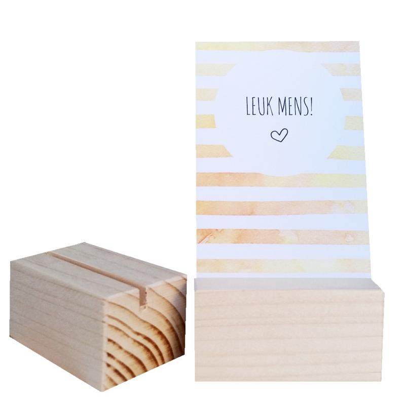 Mini kaartenhouder hout