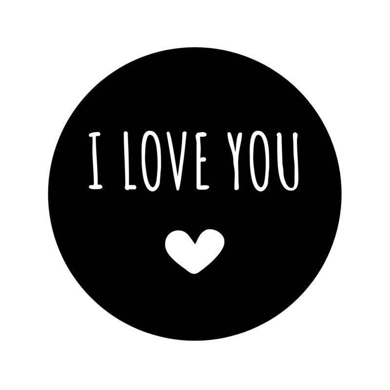 I love you | Pluimpjes magneet