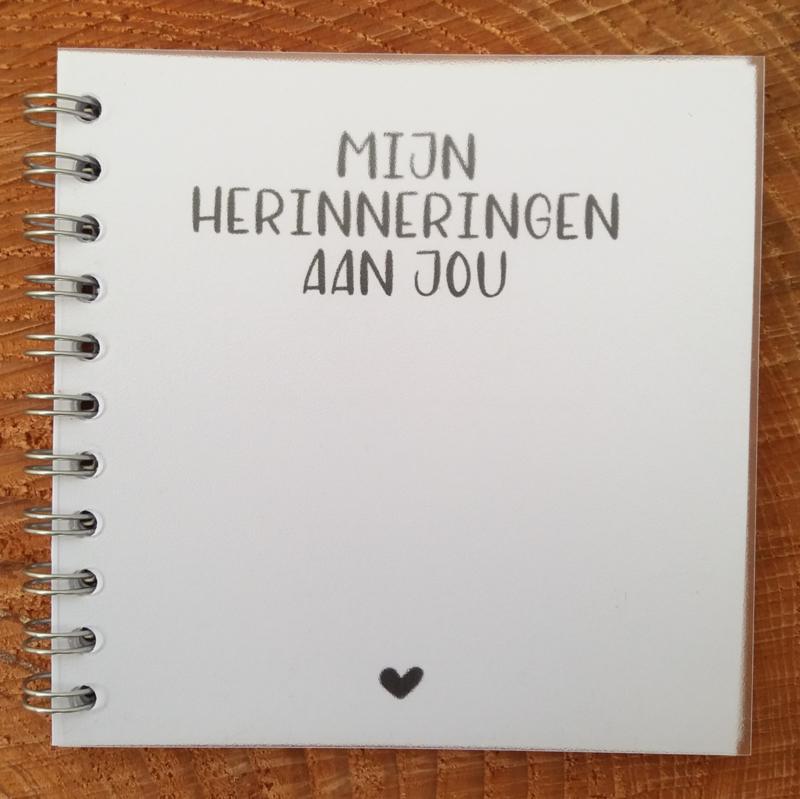Herinneringsboekje