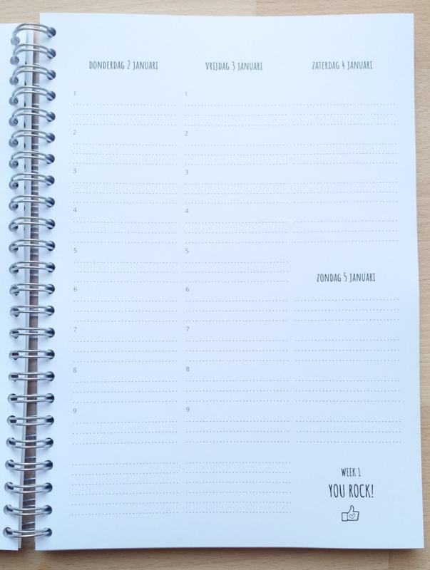 Pluimpjes School/studie agenda 2020 (met data en lesuren 1 t/m 9)