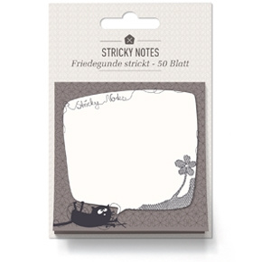 Sticky notes Friedegunde de Kat