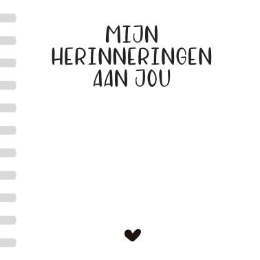 Herinneringsboekje (10x10cm)