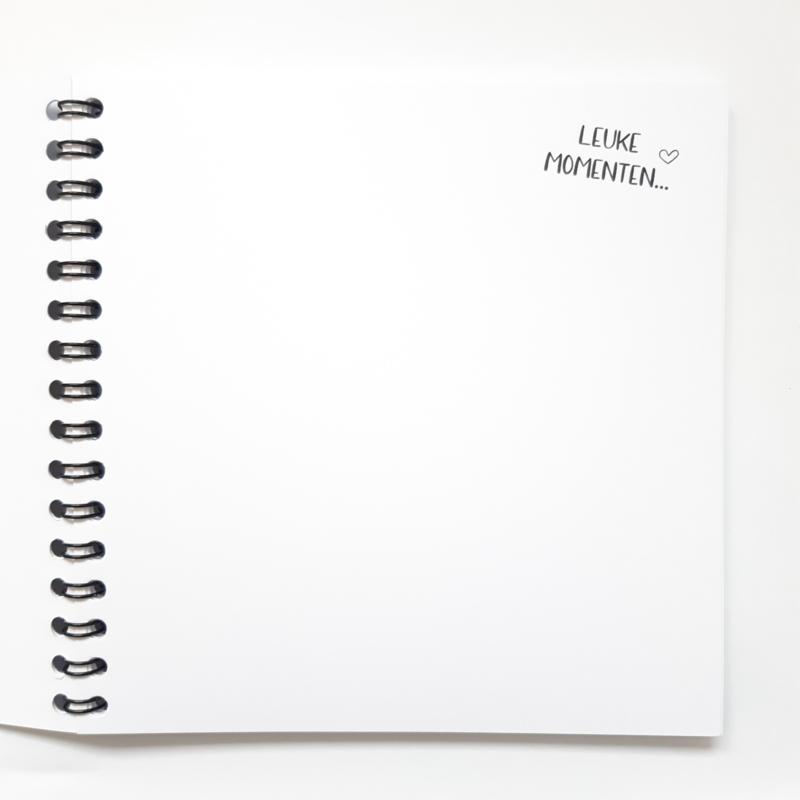 Herinneringsboekje (14x14cm)
