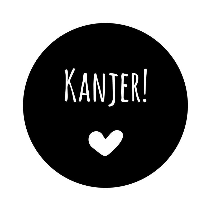 Kanjer | statische (herbruikbare) sticker in  Zwart
