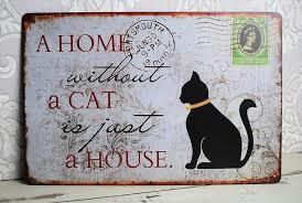 Wandplaat 'Kat'