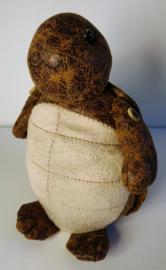 Deurstopper schildpad van oud leer