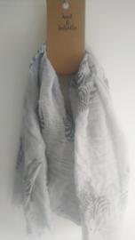 Grijze sjaal met zebra