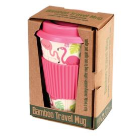 Bamboe to-go koffiebeker Flamingo