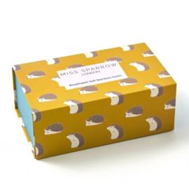 Giftbox bamboe damessokken met egels