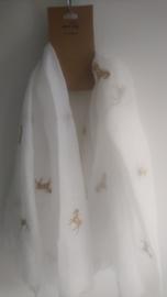 Sjaal gouden eenhoorn met glitter