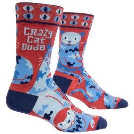 Herensokken 'Crazy cat dude'