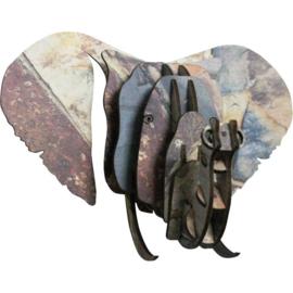 Wandhanger Olifant donker marmer