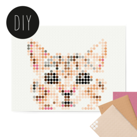 Dot on DIY stickerposter kat klein