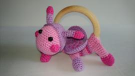 Rammelaar lieveheersbeestje roze - deluxe