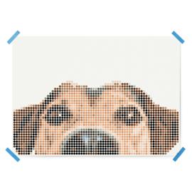 Dot on DIY stickerposter hond groot