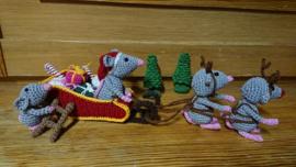 Kerstslee met muizen