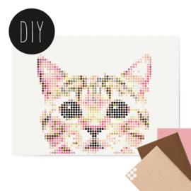 Dot on DIY stickerposter kat groot