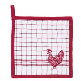 Pannenlap - Kip rood