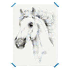 Dot on DIY stickerposter paard groot