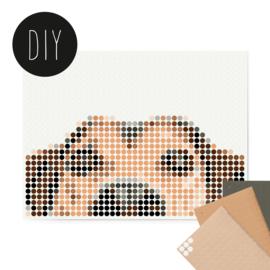Dot on DIY stickerposter hond klein