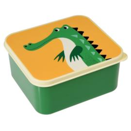Broodtrommel krokodil