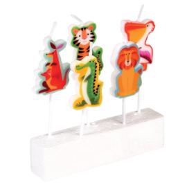 Feestkaarsjes Colourful Creatures