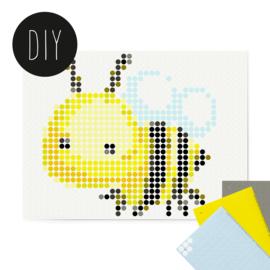 Dot on DIY stickerposter 'bij' voor kinderen