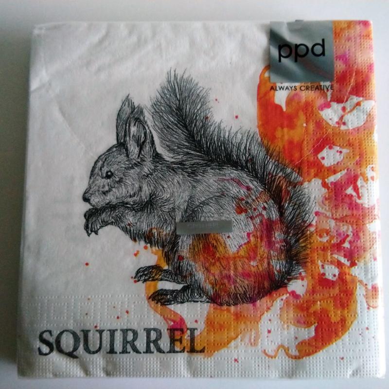Servetten Autumn Squirrel