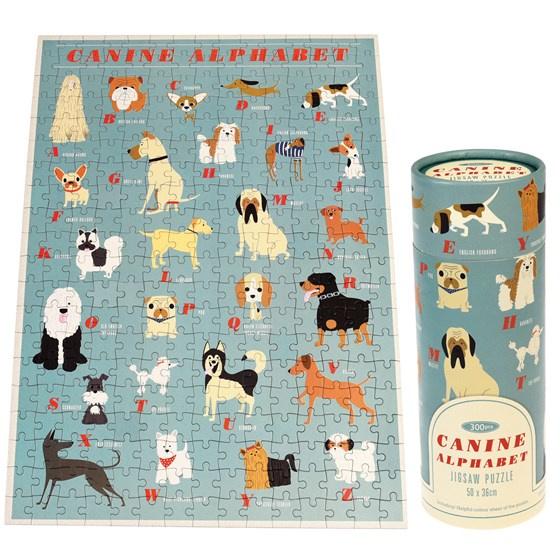 Alfabet-puzzel honden (300 stukjes)