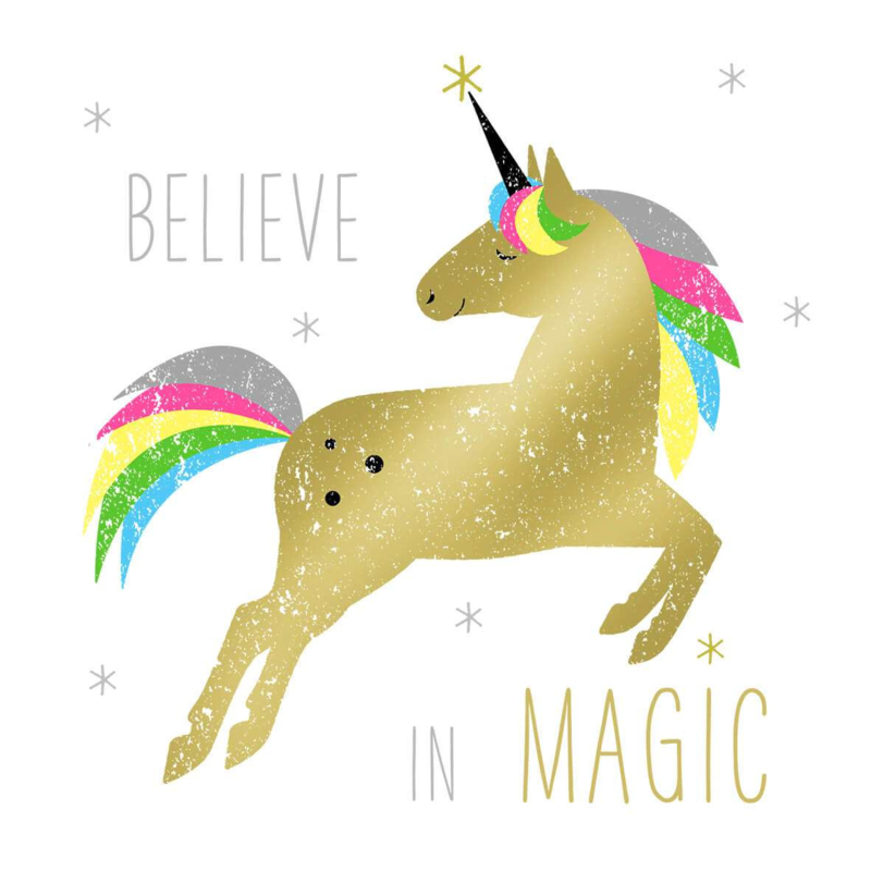 Servetten Gold Unicorn