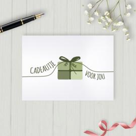 Kaart - Cadeautje voor jou