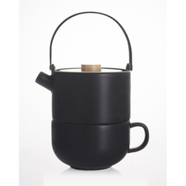 Tea for one Theepot 'Umea' 0,5 liter - Zwart - Bredemeijer