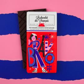 Chocolade - Bravo - Puur Amandel Karamel Zeezout -  Le Chocolat des Français