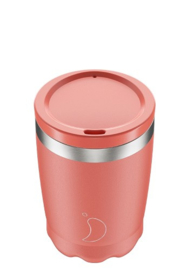 Chilly's Bottle - Chilly's Coffee/Tea Cup - Pastel Coral - 340 ml