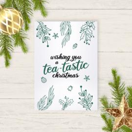 Kaart - Wishing you a tea-tastic christmas