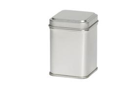 Theeblik vierkant klein - Zilver