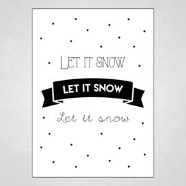 Kerstkaart - Let it snow