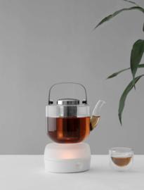 Viva Scandinavia -  Theelicht 'Minima Glow Small' Porselein & Glas - Wit