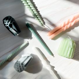 Dinerkaars Swirl 20 cm - Set van 3 stuks - Groen - Gusta