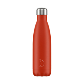Chilly's Bottle - Neon Red - 500 ml