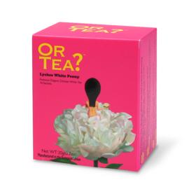 Doosje met 10 theezakjes - Lychee White Peony - Or Tea?