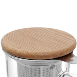 Theeglas met filter en houten deksel 0,55 liter - Viva Scandinavia