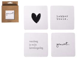 Onderzetters - Geniet Lekker Thuis - Gusta