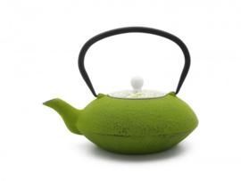Theepot 'Yantai' - Gietijzer 1,2 liter - Groen - Bredemeijer
